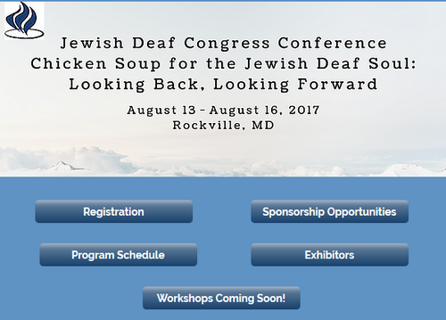 Jewish Deaf Congress Conference - Metro DC area, Aug 13-16th