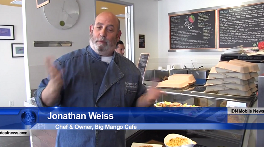 Deaf Owned Business - Big Mango Cafe owned by Jonathan Weiss