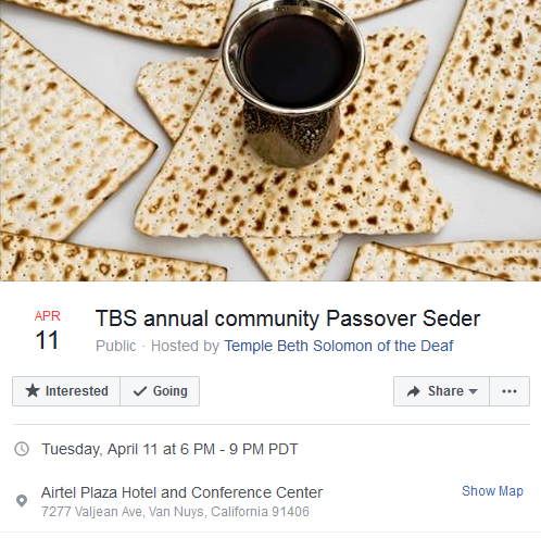 Community Passover Seder - Southern California