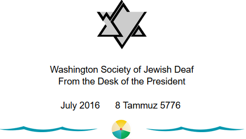 Message from Washington Society of Jewish Deaf