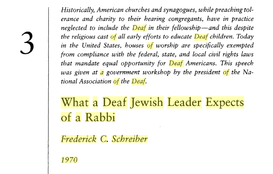 What a Deaf Jewish Leader Expects of a Rabbi